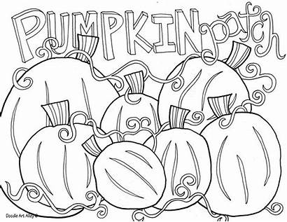 Pumpkin Coloring Patch Pages Fall Sheets Doodle