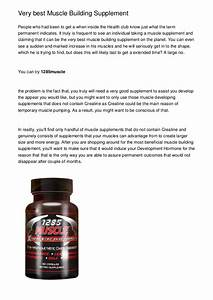 Very Best Muscle Building Supplement