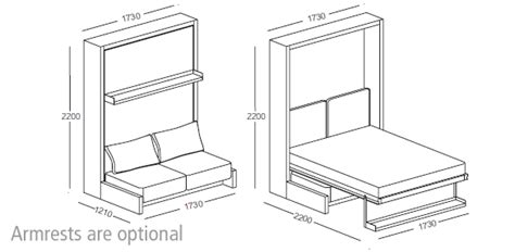 Nuovoliola Free Standing Wall Bed With Sofa
