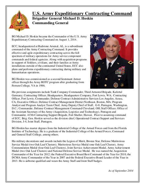 brig gen michael  hoskin ecc commanding general
