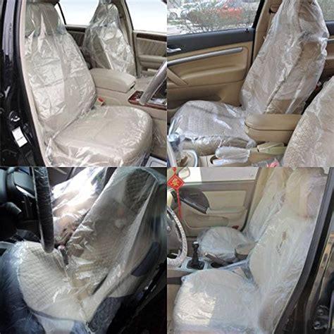 housse plastique siege auto audew 100pcs voiture sièges housses de protection en