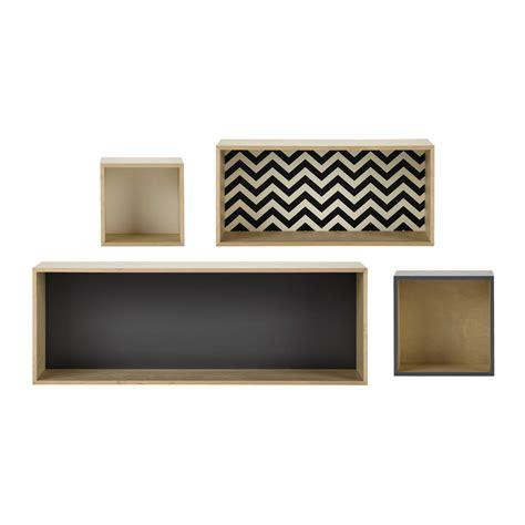 meuble chambre ado fille 4 étagères murales l 25 à l 100 cm graphik maisons du monde