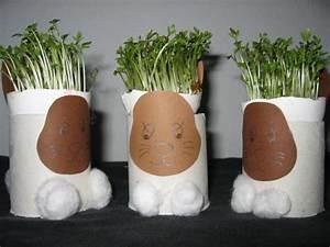 Deko Aus Toilettenpapierrollen : osterhasen eierbecher oder osterdeko mit kresse bastelfrau ~ Markanthonyermac.com Haus und Dekorationen
