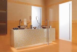 Salle De Bain Orange : photo orange et visuels salle de bains d co photo ~ Preciouscoupons.com Idées de Décoration