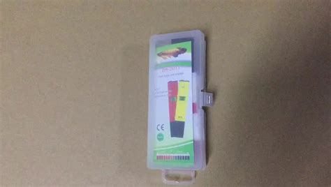 2017 new product portable backlight atc pen type ph meter