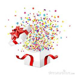 gift box exploding royalty  stock photography image