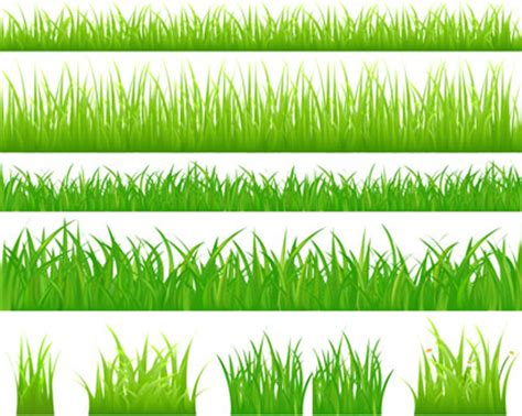 grass borders template ai svg eps vector