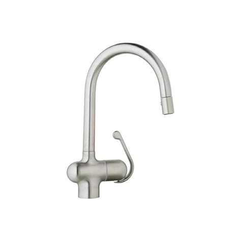 grohe kitchen faucets reviews shop grohe ladylux pro stainless steel 1 handle pull