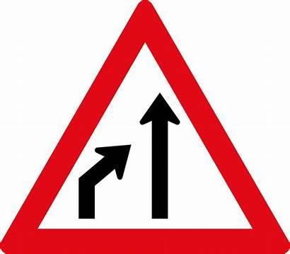 Sign Lane Ends Left Road Sadc Svg