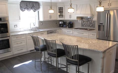 how make kitchen cabinets this bright white kitchen features jsi trenton cabinets 4365