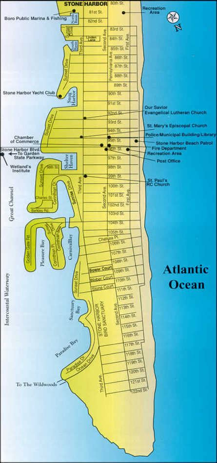 map  stone harbor  jersey