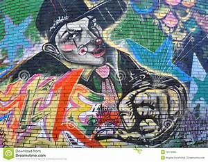 Gangster Clown Graffiti editorial image. Image of details ...