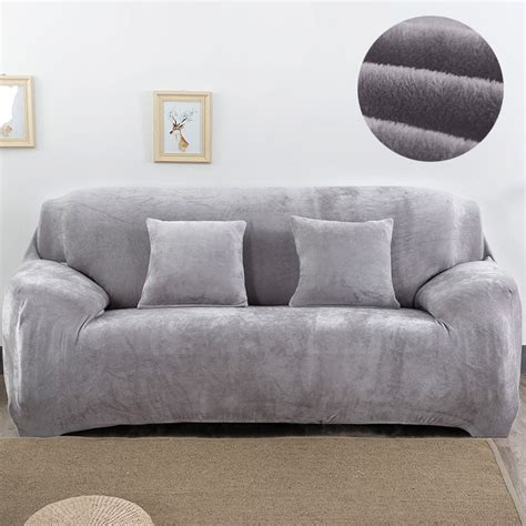 Sofa Covers 3 Seater by Plush Fabirc Sofa Cover 1 2 3 4 Seater Thick Slipcover