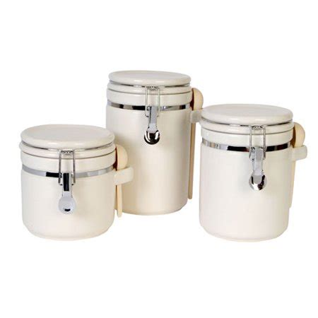 walmart kitchen canister sets gibson sensations ii 3 canister set white walmart