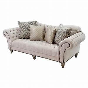 Laura cream sofa el dorado furniture for Sectional sofas el dorado