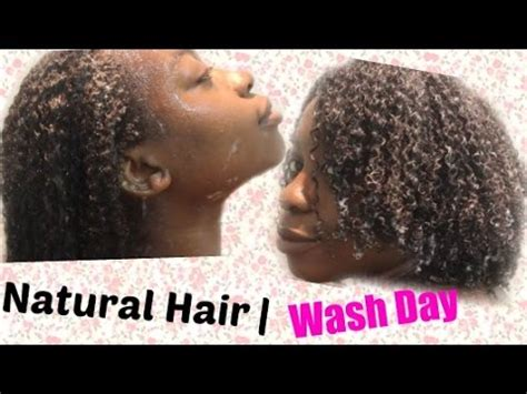 Natural Hair  Wash Day Routine ! ≧ ≦ Youtube