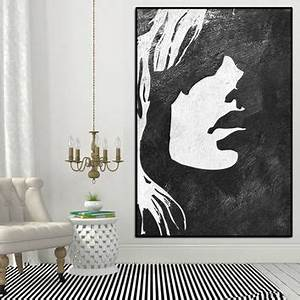 35 cool diy wall art ideas for blank walls art wall With best brand of paint for kitchen cabinets with black and white silhouette wall art