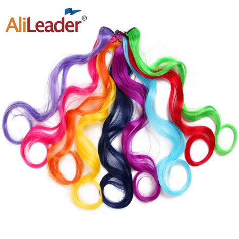 Alileader Long Synthetic Clip In Hair Extensions Body Wave