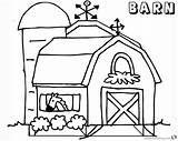 Barn Coloring Horse Printable Getcolorings Getdrawings sketch template