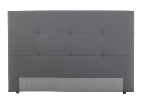 tete de lit bureau tete de lit l165 pu gris silex fly