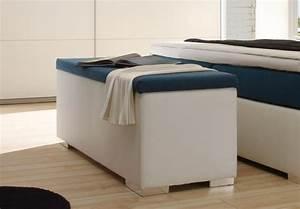 Bettbank Mit Stauraum : sitzbank chest truhe schlafzimmer in wei und petrol ~ Watch28wear.com Haus und Dekorationen