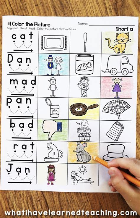 Short A Phonics Worksheets  Short A Cvc Words
