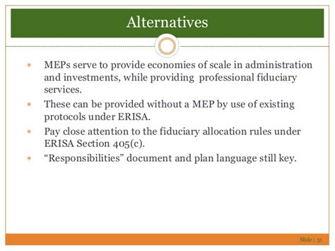 erisa section 404 c with meps