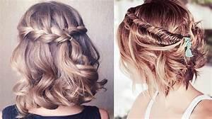 Coiffure Tresse Facile Cheveux Mi Long : coiffure cheveux courts facile et rapide coiffure simple ~ Melissatoandfro.com Idées de Décoration