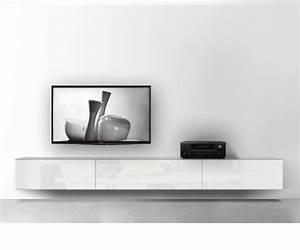 Sideboard Hängend Weiß Hochglanz : h ngende lowboards 120 300 cm breite in 30 farben ~ Watch28wear.com Haus und Dekorationen