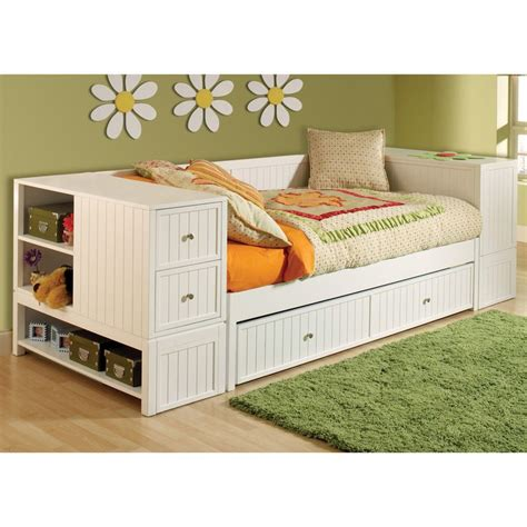 trundle beds with storage daybed trundle end chest storage hillsdale 17585