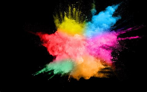 wallpaper colorful smoke splash abstract black