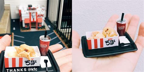 miniature kfc opened portland serving tiny fill boxes adweek