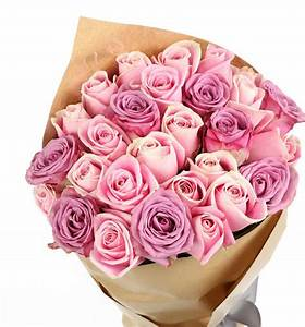 Pink & Purple Roses Bouquet - Gift Flowers HK