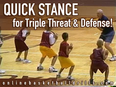 triple threat position  defensive stance