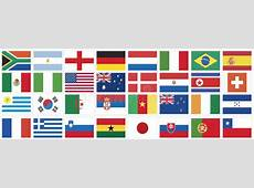 National Flags Of Countries World Cup 2010 Stock Vector