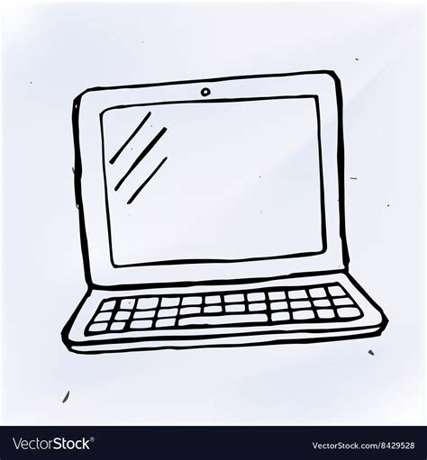 hand draw doodle laptop royalty  vector image