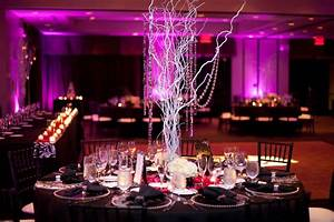 Encore centerpieces silver tree branches with dangling