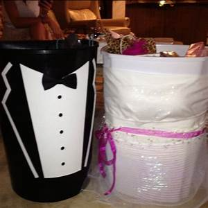 wishing well trash cans for the bride and groom handmade With wedding shower wishing well