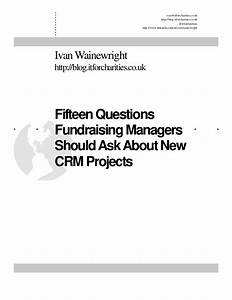 Fifteen questions fundraising managers should ask about ...
