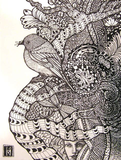zentangle zendoodle