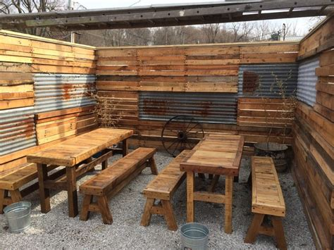 Spot Tavern Reclaimed Wood Fence And Tables