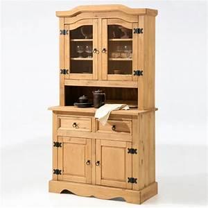Vaisselier En Pin : bahut 2 p 2t haut vaisselier 2 portes tequila pin ~ Teatrodelosmanantiales.com Idées de Décoration