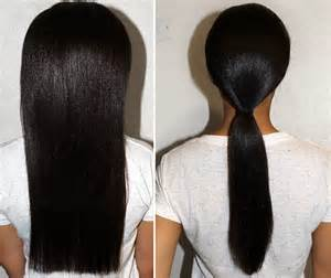 Black Women Long Relaxed Hair