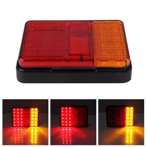 clear led trailer tail lights 30led led taillights red yellow rear tail light l dc