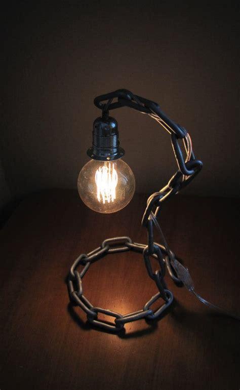 minimalistic industrial chain lamp  steampunkeshop
