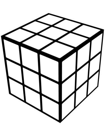 Rubik's Cube coloring page