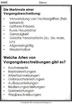 german deutsche vorgangsbeschreibung schreiben  clever