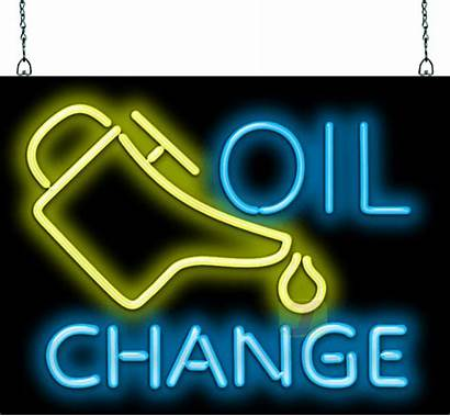 Oil Change Neon Sign Am