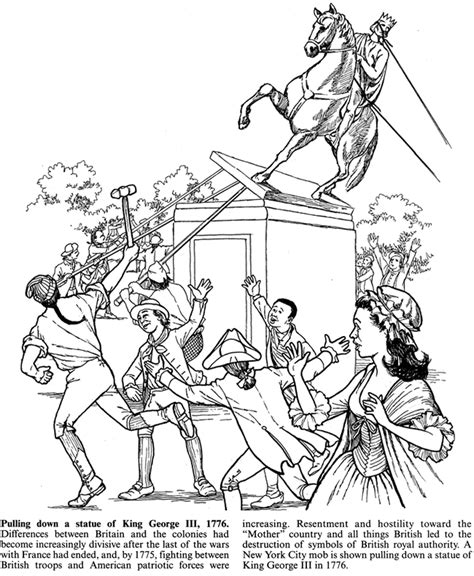 Free Colonial Children Coloring Pages
