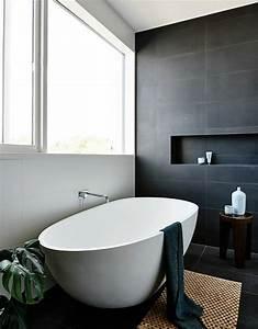 Faience Blanche Salle De Bain : la beaut de la salle de bain noire en 44 images ~ Dailycaller-alerts.com Idées de Décoration